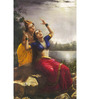 64Arts Canvas 16 x 24 Inch Radha Madhav by Raja Ravi Varma Unframed Digital Art Print