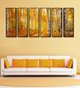 999Store Fibre 70 x 0.8 x 30 Inch Autumn Birch Forest Framed Art Panels - Set of 6