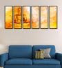 999Store Fibre 70 x 0.8 x 30 Inch Buddha Statue Framed Art Panels - Set of 6
