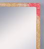 999Store Multicolour Wooden Handmade Decorative Zigzag Lines  Mirror
