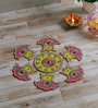 999Store Multicolour Wooden Handmade Rangoli - Set of 7