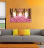 999Store Pink Flower Pvc Vinyl 35 x 24 Inch Wooden Framed Digital Art Print