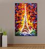 999Store Vinyl 48 x 0.4 x 72 Inch Eiffel Tower Paris Painting Unframed Digital Art Print