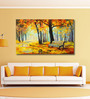 999Store Vinyl 60 x 0.4 x 36 Inch Abstract Autumn Forest Painting Unframed Digital Art Print