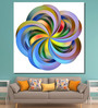 999Store Vinyl 60 x 0.4 x 60 Inch Coloured Flower As A Symbol of Contemporary Painting Unframed Digital Art Print