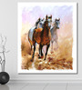 999Store Vinyl 60 x 0.4 x 72 Inch Horse Equestrian Passion Painting Unframed Digital Art Print