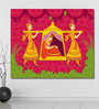 999Store Vinyl 72 x 0.4 x 60 Inch Lady in Palanquin in Indian Painting Unframed Digital Art Print