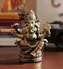 Aapno Rajasthan Gold Resin Amazing Ganesha Idol Showpiece