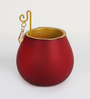 Aapno Rajasthan Red Glass Cut Work Swastik Tea Light Holder