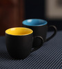 AION Multicolor Ceramic 100ML Matte Tea Cup - Set of 6