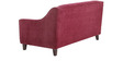 Alia Superb Two Seater Sofa in Maroon Colour by Furny