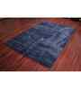 Ambadi Blue Polypropylene Patchwork Carpet