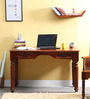 Amherst Study & Laptop Table in Honey Oak Finish by Amberville