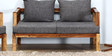 Ann Arbor Two Seater Sofa in Provincial Teak Finish by Woodsworth