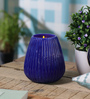 Anasa Blue Glass Cobalt Votive Tea Light Holder
