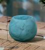 Anasa Blue Glass Hurricane Votive Tea Light Holder