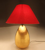 Anasa Red Cotton Egg Table Lamp