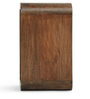 Ancona Small Cubic Table in Walnut Finish by The ArmChair