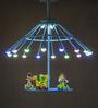 Anemos Blue 19 Bulb Carousel Pendant Light