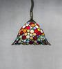 Anemos Multicolour Tiffany Glass & Metal Pendant