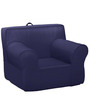 ANYWHERE Kids Sofa with Cushion in Navy Blue by My Gift Booth