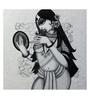 Art Zolo Canvas 24 x 24 Inch Beautiful Lady Unframed Artwork Painting