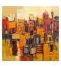 ArtCollective Abstract Canvas 22 x 22 Inch Framed Art Print