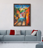 ArtCollective Canvas 18 x 24 Inch Light in Town Framed Limited Edition Digital Art Print by Amaey Parekh