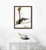ArtCollective Canvas 21 x 28 Inch Train Series Framed Limited Edition Digital Art Print by Sunil Sarkar