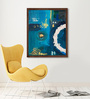 ArtCollective Canvas 24 x 30 Inch Circle of Life - II Framed Limited Edition Digital Art Print by Amaey Parekh