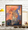 ArtCollective Canvas 27 x 36 Inch Structures Framed Limited Edition Digital Art Print by Somenath Maity