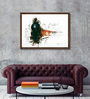 ArtCollective Canvas 35 x 24 Inch Train Series Framed Limited Edition Digital Art Print by Sunil Sarkar