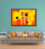 ArtCollective Canvas 36 x 24 Inch Flamboyance Framed Limited Edition Digital Art Print by Vatsala Menon