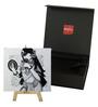 Artflute Cotton & Canvas 7 x 1 x 7 Inch Rhythmic B/W Framed Digital Art Print with Wooden Easel