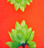 ARTychoke Orange Silk 12 x 12 Inch Waterlily Cushion Cover