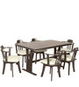 Atlanta Dining Chair (Set of 2) in Dark Brown Colour by Godrej Interio