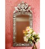 Avery Decorative Mirror in Silver by Amberville
