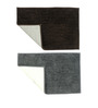 Azaani Brown & Gray Cotton Bath Mat - Set of 2