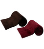 Azaani Soft Feel Brown Maroon Solid Single Blanket - Set of 2