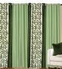 Adria Set of 4 Door Curtain in Green by CasaCraft