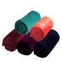Azaani Soft Feel 5 Dark Multi Color Solid Single Blanket - Set of 5