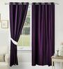 Alhambra Set of 2 Door Curtain in Purple by CasaCraft