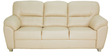Bari Three Seater in Ivory Colour by Furnitech