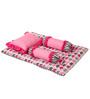 Bacati Elephant Pink Grey 4 pc Mattress Set