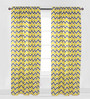 Bacati Yellow Grey Zigzag Curtain Panel Door  Set of 2 pcs