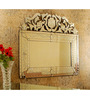Bartlam Decorative Mirror in Silver by Amberville