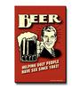 bCreative Red MDF Comic Beer Fridge Magnet