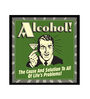 bCreative Paper & Fibre 13 x 1 x 13 Inch Alcohol The Cause & Solution Of All Life's Problems Officially Licensed Framed Poster