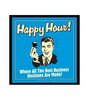 bCreative Paper & Fibre 13 x 1 x 13 Inch Happy Hour! Where All The Best Business Decisions Are Made! Officially Licensed Framed Poster