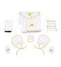 Belle Maison White 9-piece Baby Bath Robe Set - Medium